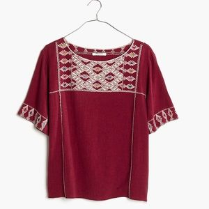 Madewell Embroidered Tee Top